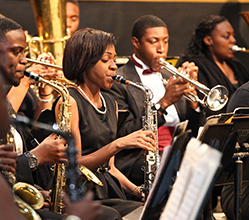 Image of students in band concert